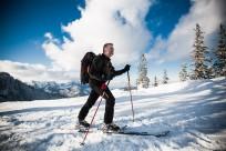 Skitourengeher auf den Unternberg